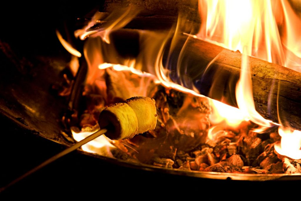 Marshmallows Roasting on a fire