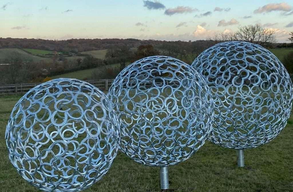 trio of spheres