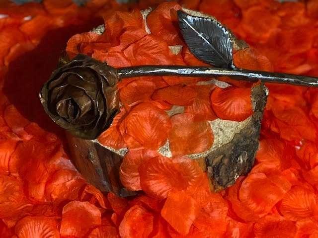 Handmade Copper Flower