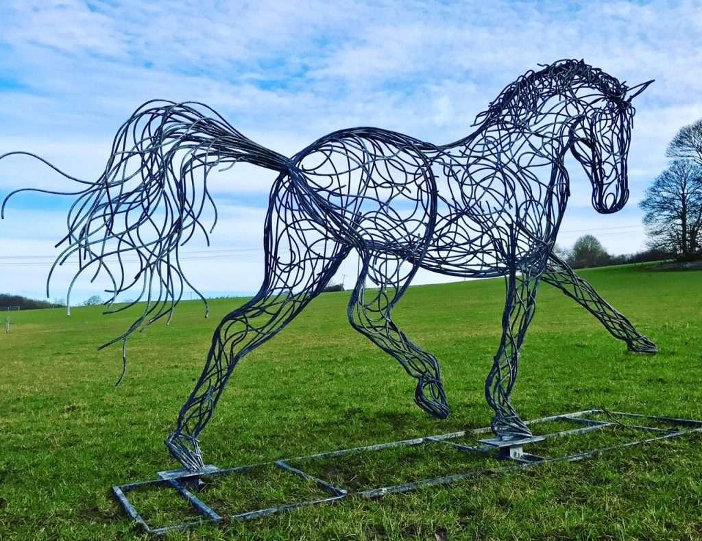 Horse Sculpture Walking