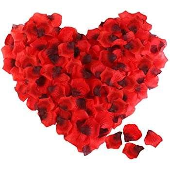 Flower petal heart