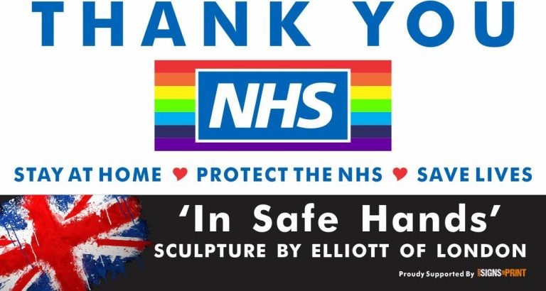 Thank you NHS In Safe Hands Poster