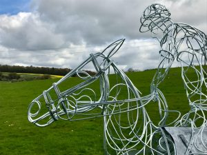 Playing Polo Sculpture Design