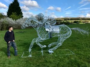 Horse and Jokey Design With Support Mechanism