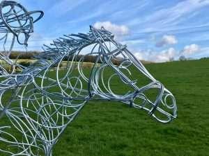 Horse and Jokey Sculpture Horse's Head