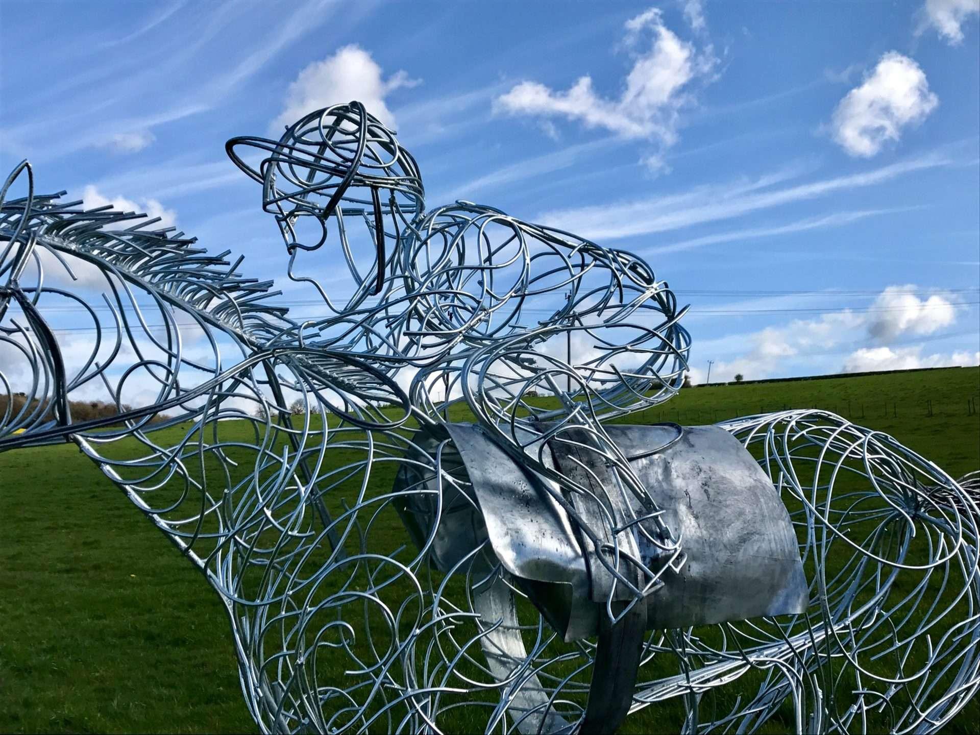 Horse and Jokey Riding Sculpture Image Of Jokey