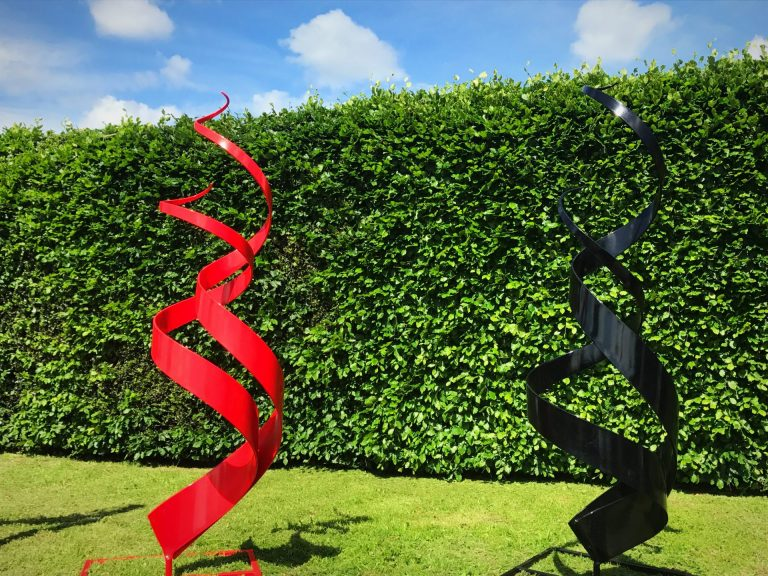 Two Spiral Abstract Sculptures