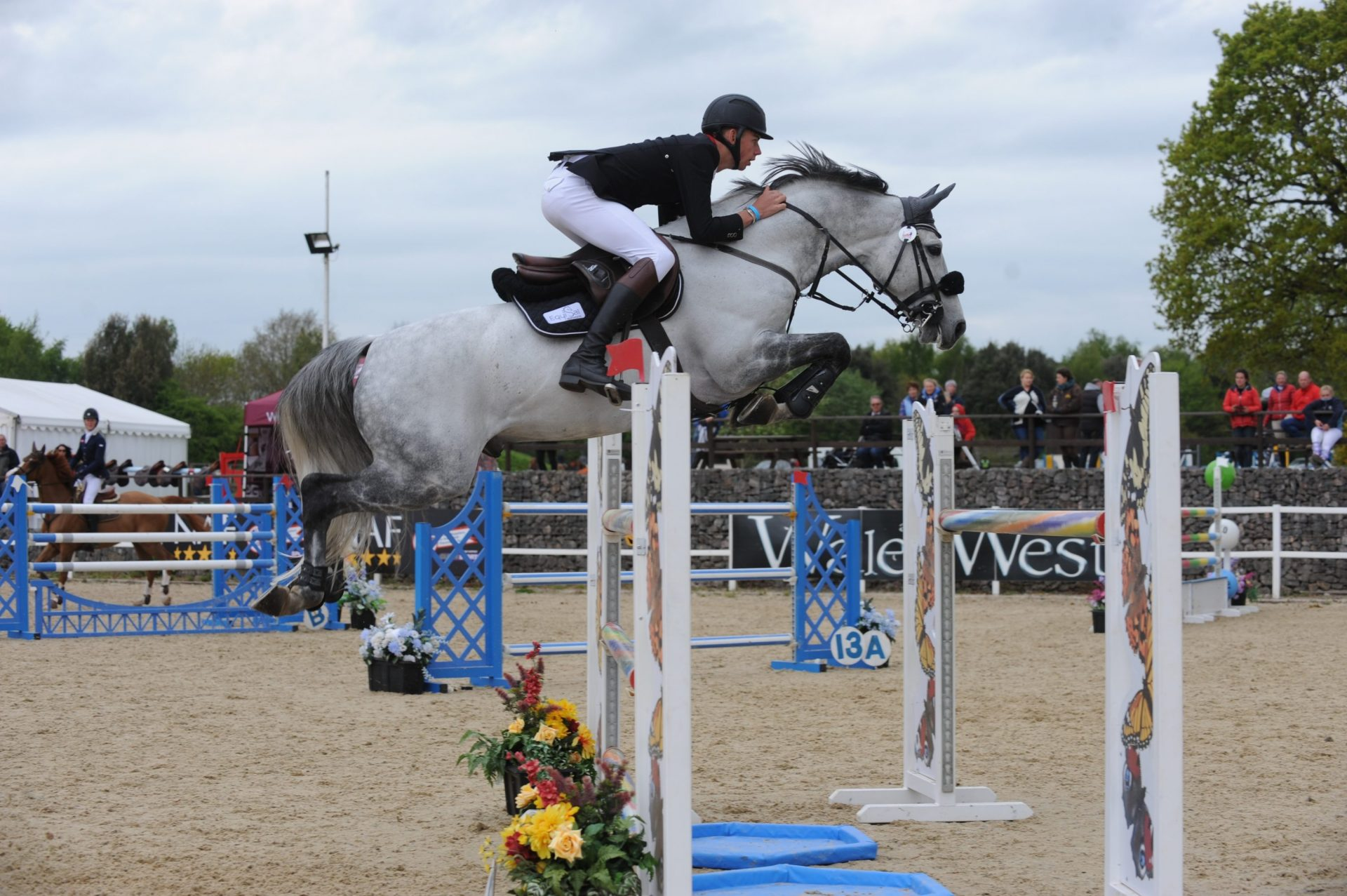 Man In Horse Jumping Competition