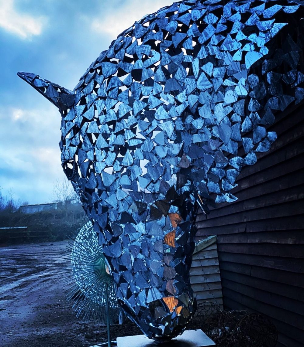 Silver Horse Head In Winter