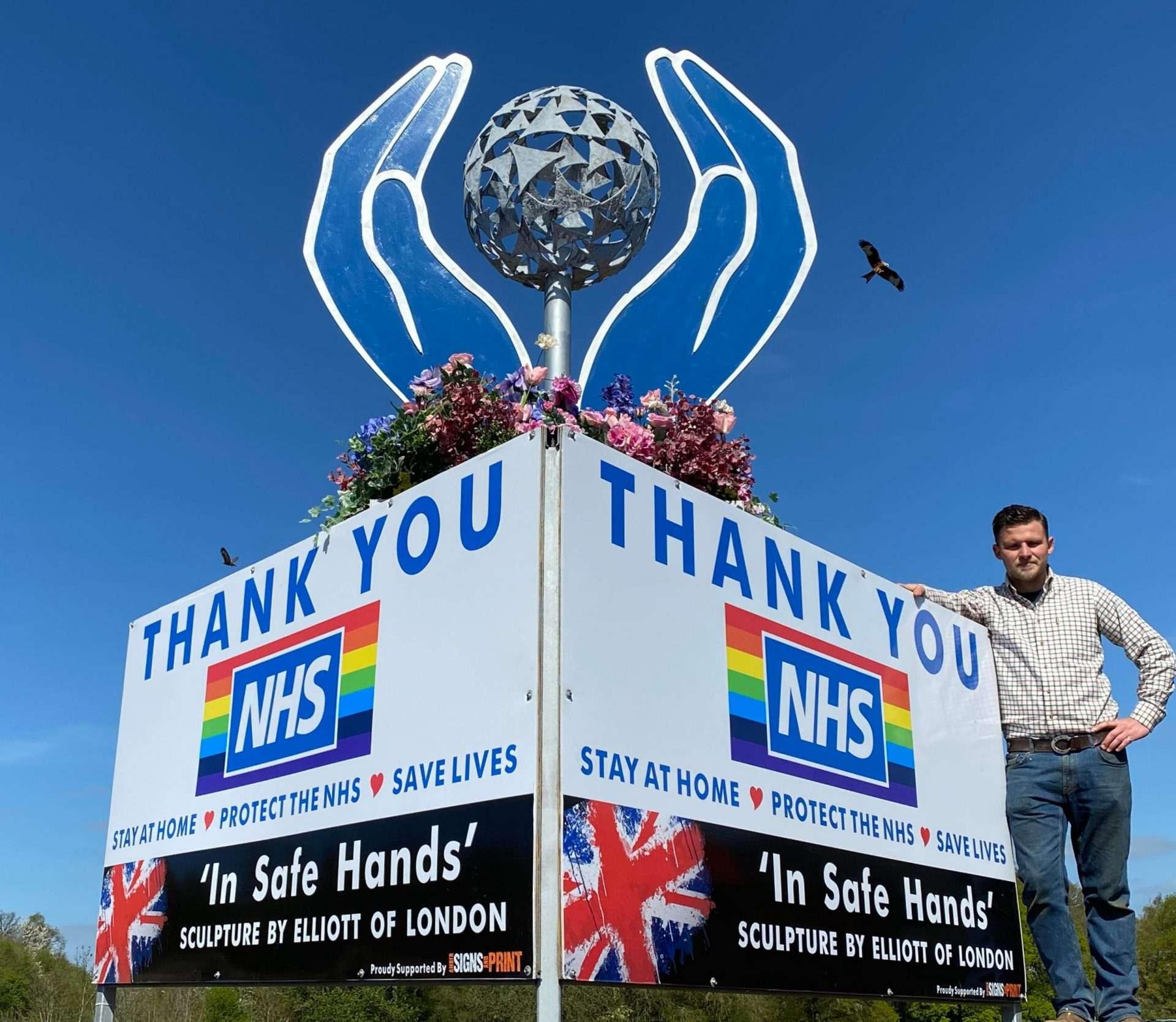Close Up Thank You NHS