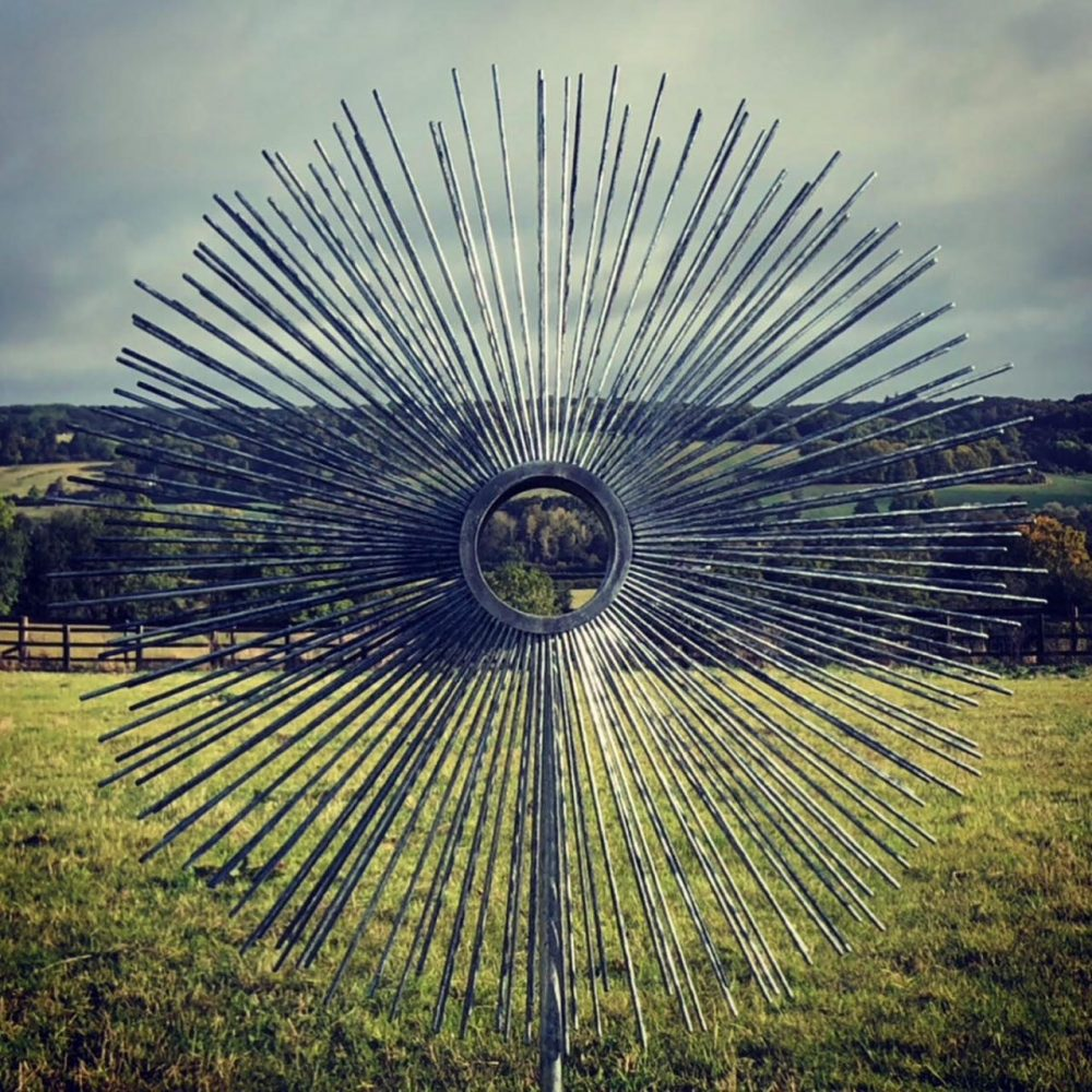 Circle Sculpture In A Large Field