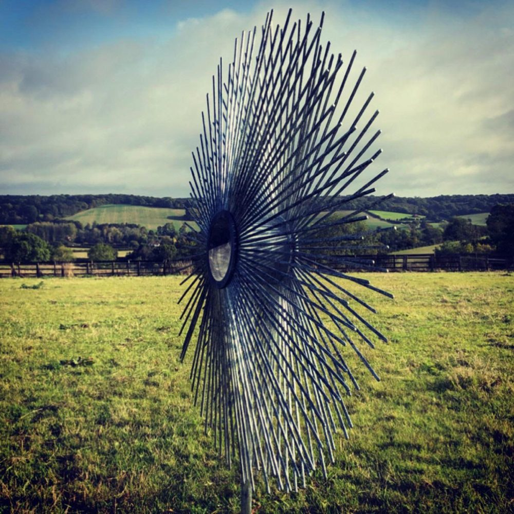 Side Of Peacock Circle Sculpture