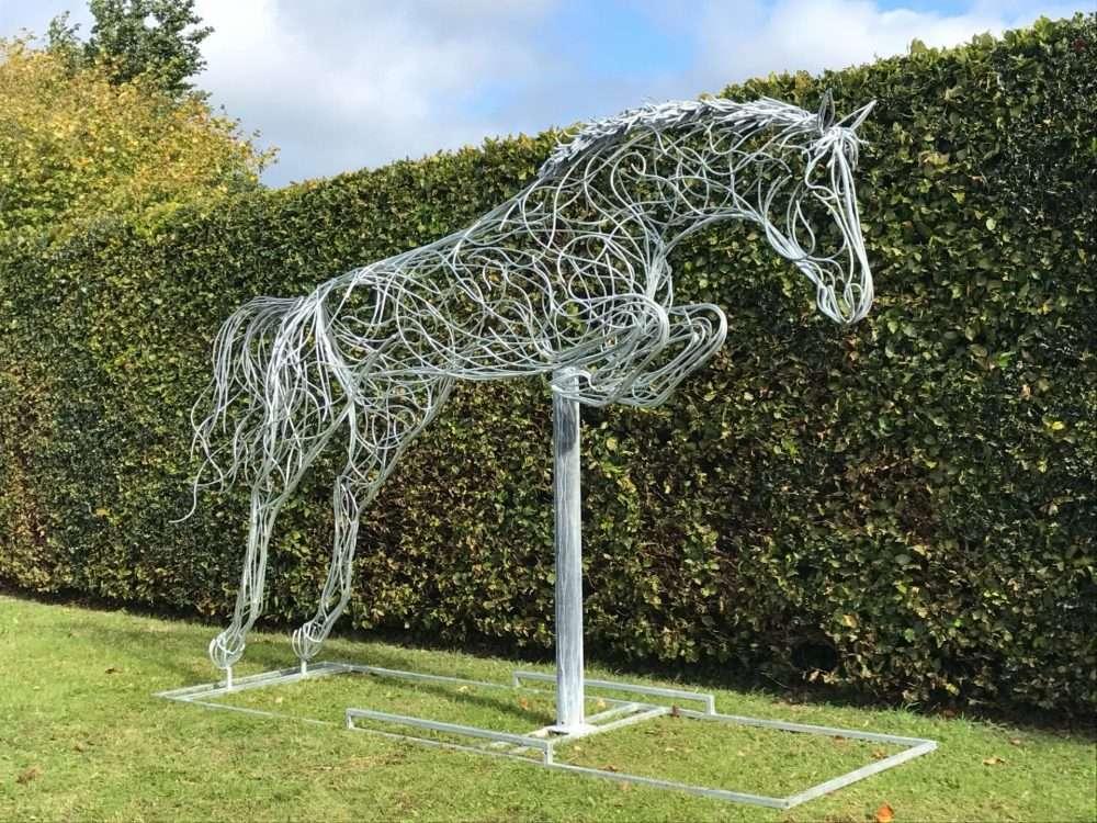 Jumping Horse Sculpture Design