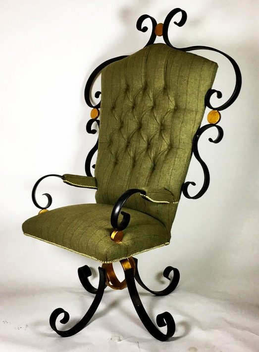 Black And Gold Chair