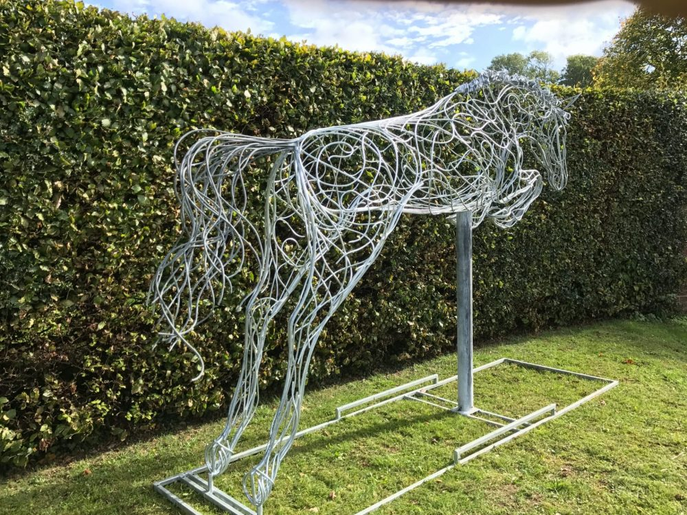 Jumping Horse Side View Structure