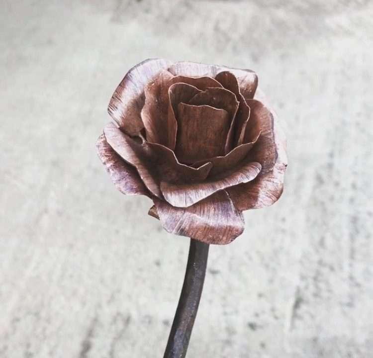 Handmade Metal Rose