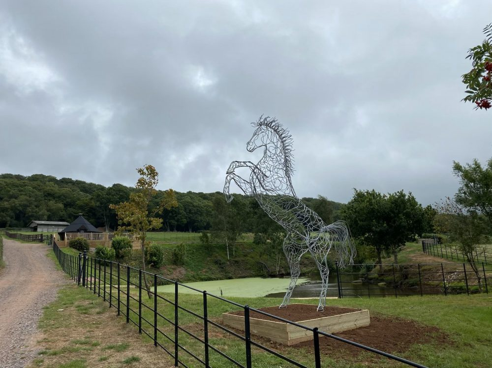 Silver Galvanised Standing Horse