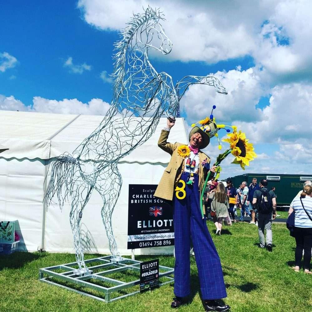Rearing Horse At Fair