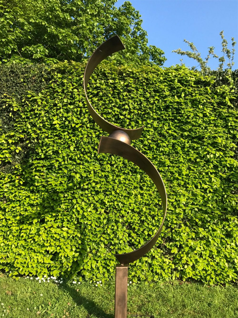 Tall Abstract Spiral Structure Sculpture