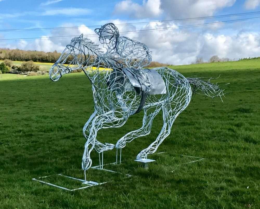 Horse and Jokey Running Design