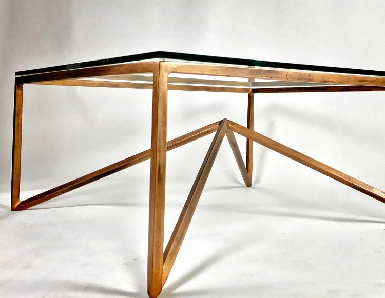 Bronze Table With White Background