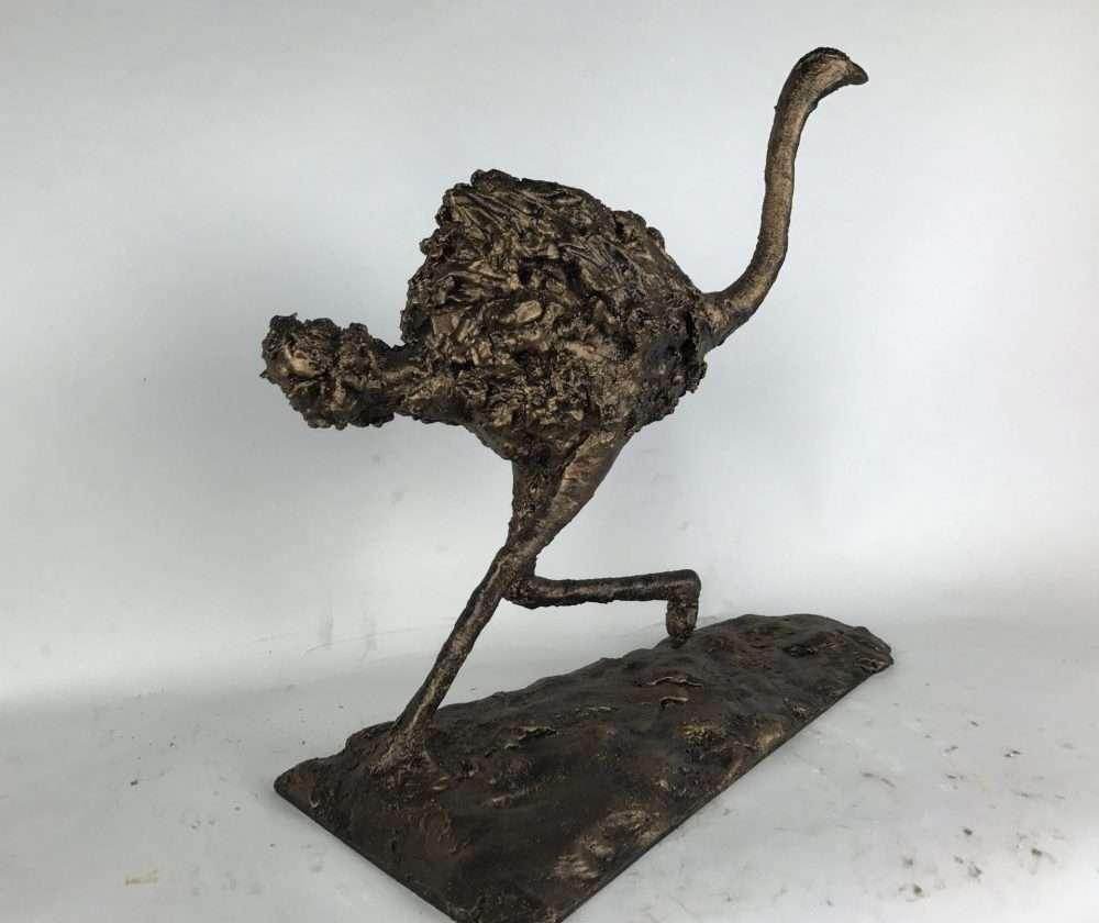 Bronze Ostrich Running