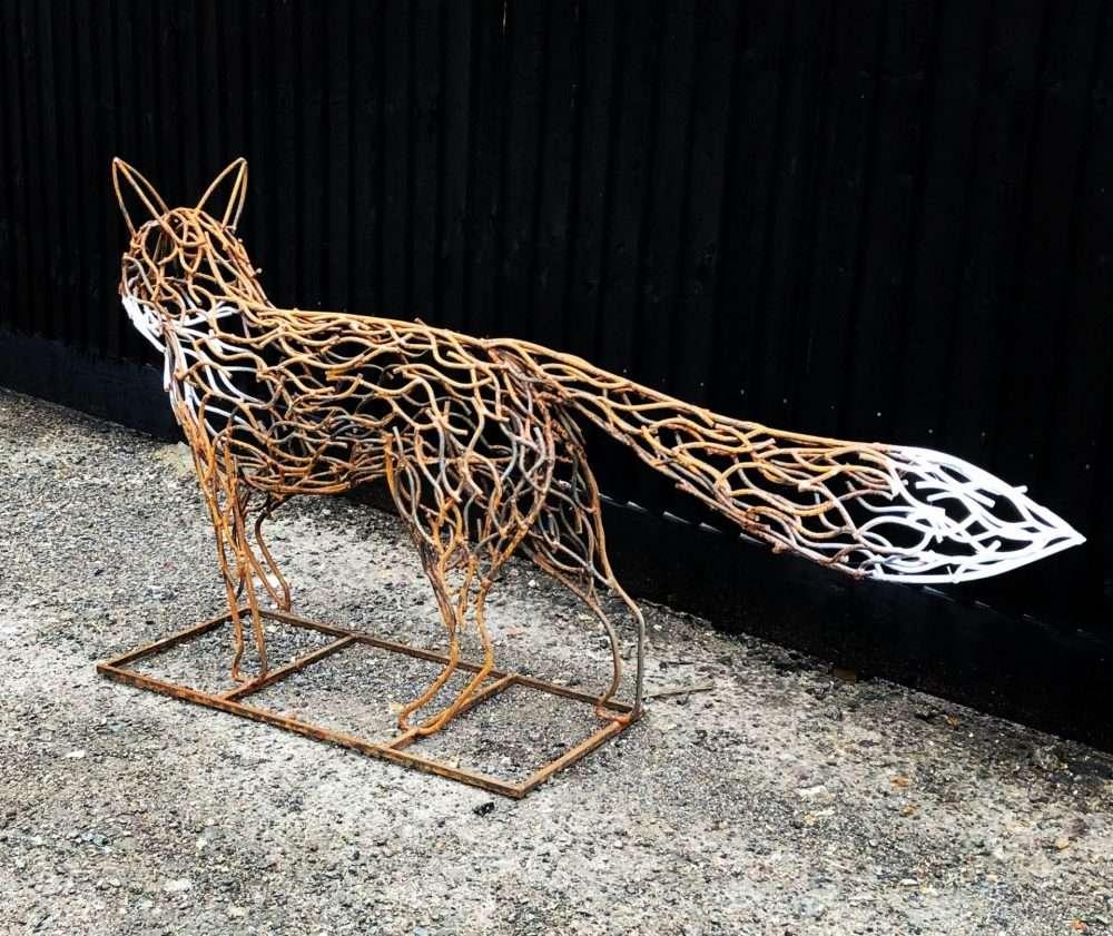 Rustic Fox Sculpture Tail