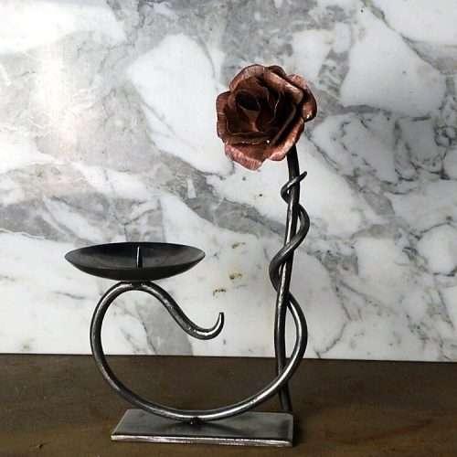Metal Flower Candle Holder