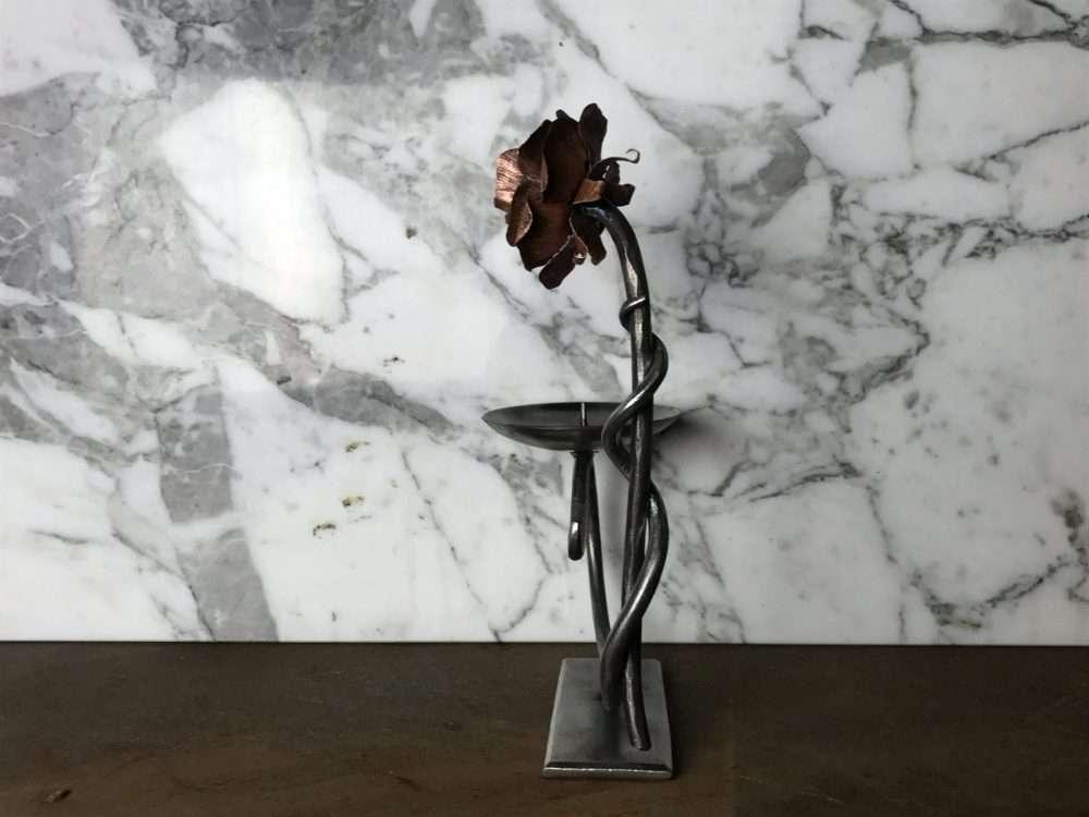 Side Of Metal Flower Candle Holder