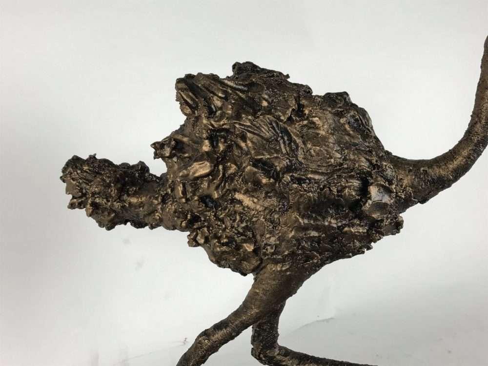 Detailed Ostrich Sculpture