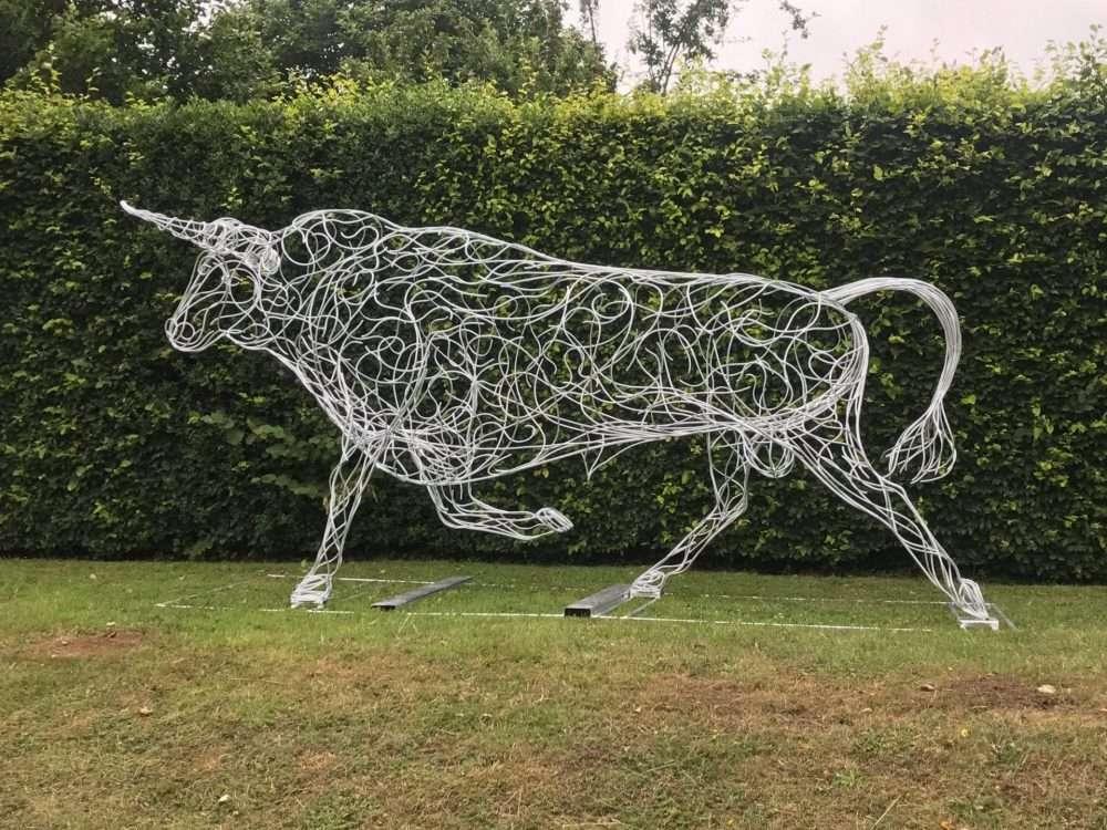 Full View Of Bull Sculpture