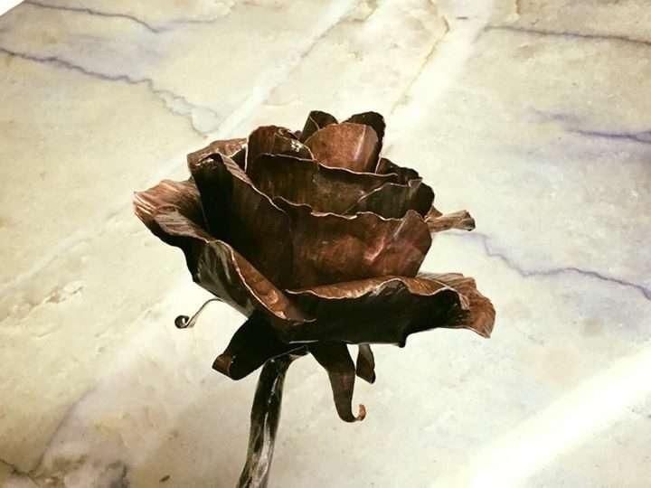 Metal Flower Rose
