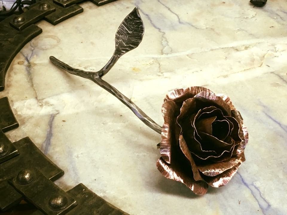 Metal Flower On A Table