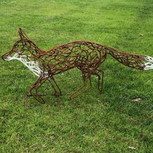 Fox Walking Sculpture