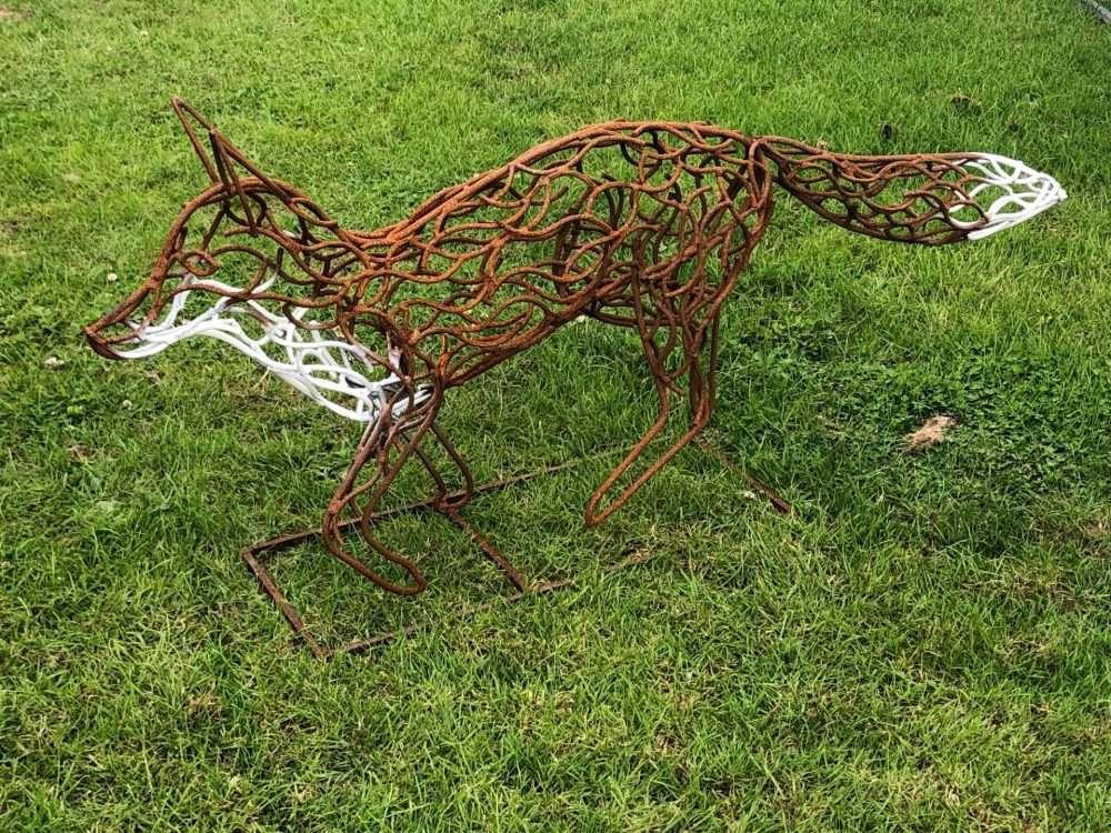 Rustic Bronze And White Fox