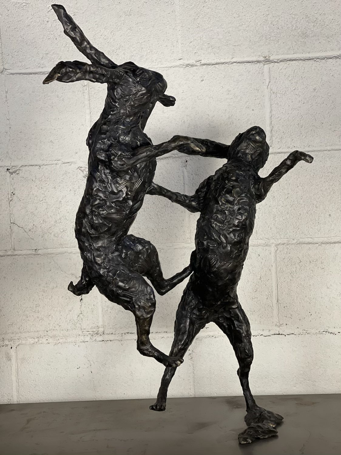 Two Boxing Hares