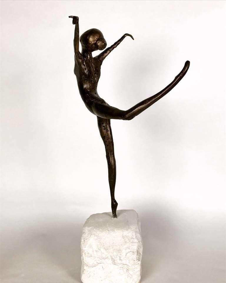 Coryphée 2017 Bronze Sculpture back view