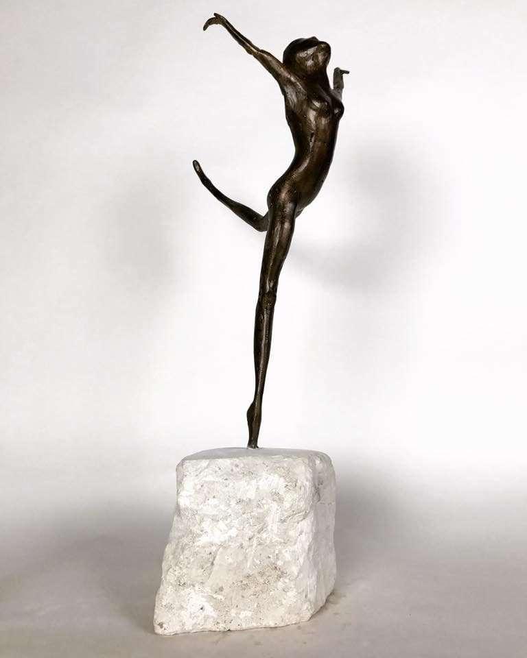 Coryphée 2017 Bronze Sculpture on marble plinth
