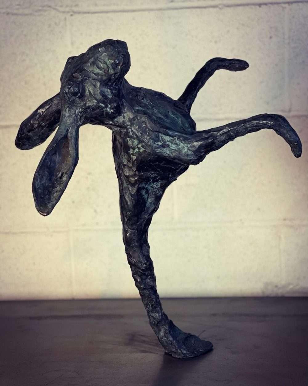 Rabbit sculpture face