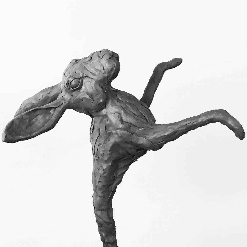 Rabbit sculpture clay