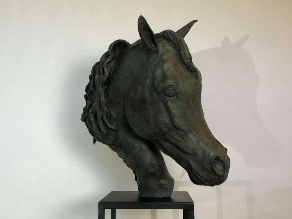 Horse Head Sculpture right facing
