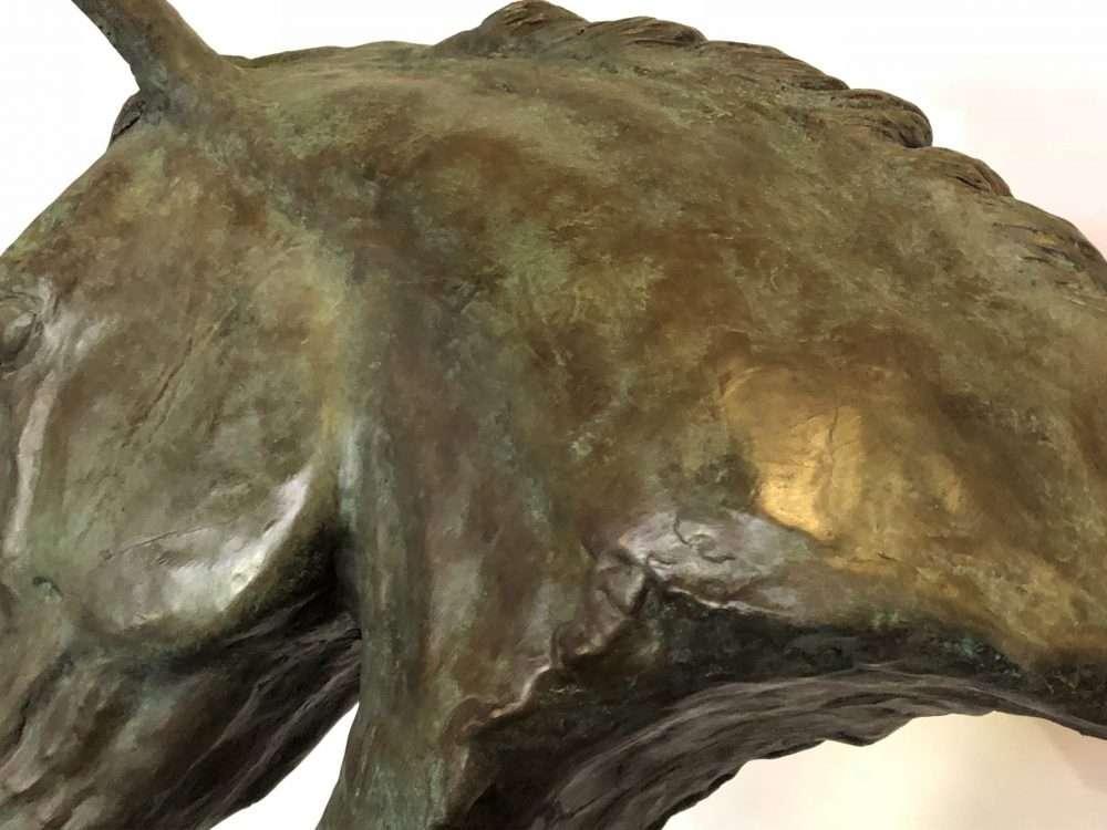 close up of Horse head sculpture