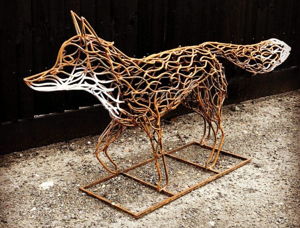 Watching Fox Sculpture