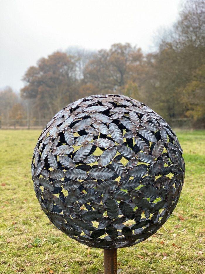 Beech Leaf Sphere Sculpture